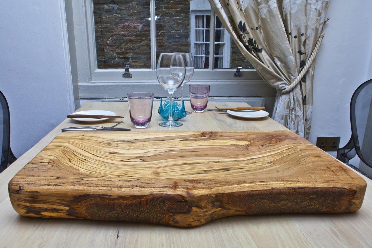 wooden restaurant serving board